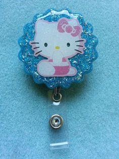 Sanrio HELLO KITTY id reel badge
