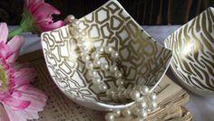 Gold Sharpie Bowls (Animal Prints)