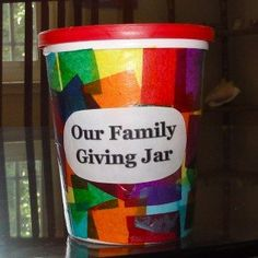 #Family Giving Jar - #parenting