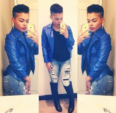 Dope Dope jacket and hair!!