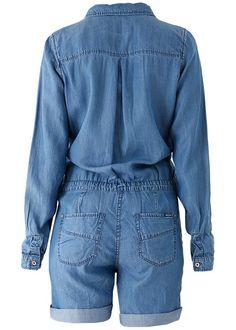 Jumpsuit denim C70089 Ladies Jumpsuit - 1096 true blue
