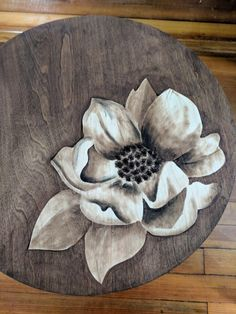 Magnolia Bloom Stained Art - Reality Daydream,Magnolia Bloom Stained Art - Reality Daydream How To Produce Wood Art ? Wood art is usually the job of shaping around and inside, so long as the top o. Funky Furniture, Paint Furniture, Furniture Projects, Furniture Makeover, Art Projects, Wood Burning Crafts, Wood Burning Art, Wood Crafts, Diy Wood