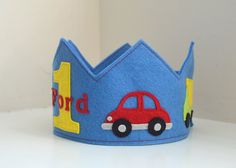 transportation themed birthday crown