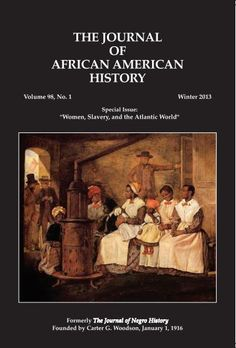 """The Journal of African American History, formerly The Journal of Negro History, founded by Dr. Carter G. Woodson on January 1, 1916 has evolved into the leading scholarly source on African American life and history. Now, in its 97th volume, The Journal of African American History explores """"African Americans and Movements for Reparations: Past, Present, and Future,"""" and the articles and reviews shed new light on past activities and point to new directions…"""