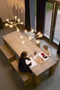 Hanglamp eettafel transparant flexibel eikelenboom