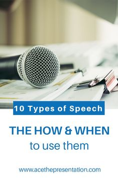 One of the most important skills as a speaker is being able to choose the kind of speech that will have the best effect on your audience. In this post, you will find 10 types of speech, how and when to use them, with a few examples that will serve you well in the future.  #typesofspeech #kindsofspeech #publicspeakingexamples #speechideas #motivationalspeech #persuasivespeech #specialoccasionspeech #debate #oratoricalspeech #demostrativespeech #explanatoryspeech #forensicspeech