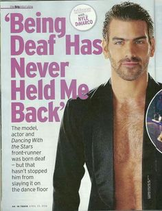 In Touch magazine April 2016 Nyle DiMarco This man is great looking and an amazing dancer and totally deaf Sign Language Words, American Sign Language, Nyle Dimarco Antm, Deaf Quotes, Marlee Matlin, Deaf People, Deaf Culture, Front Runner, Dapper Gentleman