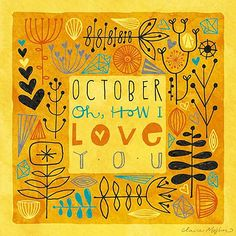 October, my absolute favorite month