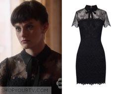 Nashville: Season 4 Episode 11 Layla's Black Lace Collared Dress