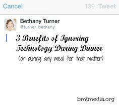 3 Benefits of Ignoring Technology During Dinner - bmtmedia