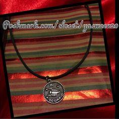 ❤️Scorpio ❤️Zodiac necklace Unisex silver tone Scorpio pendant. Black rubber cord necklace with clasp closure. (Scorpio design on both sides of pendant).NEW 4 available Accessories