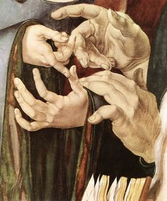 lalunalalu:    DÜRER, AlbrechtChrist Among the Doctors (detail)1506Oil on panelMuseo Thyssen-Bornemisza, Madrid