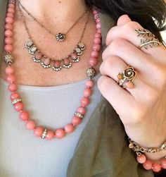 Florally yours in our Sunset Vista Two-Row Convertible Necklace!