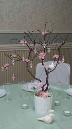 Cherry Blossom Centerpiece Manzanita Branch