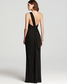 Adrianna Papell One Shoulder Gown - Draped | Bloomingdales