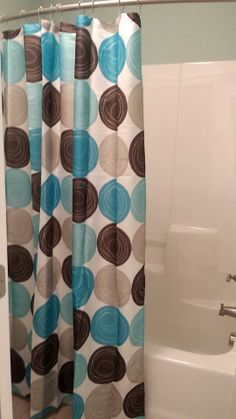 Shower Curtains chocolate brown shower curtains : Amazon.com - Teal Colored Brown Bathroom Flowered 72 x 72 Shower ...
