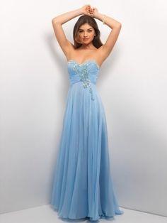 Stylish A-line Sweetheart Beading Sleeveless Floor-Length Chiffon Prom Dresses
