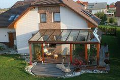 Terrasse Wintergarten aus Glas - Bauen Sie schönen Wintergarten an