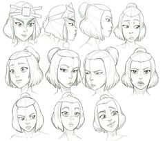 Avatar The Last Airbender Discover Suki Expressions Study by Nylak on DeviantArt Some people I know be haten on Suki and dont respect the fact that her and Sokka are happy together so they need to just butt out. I absolutely love her :) Character Design Cartoon, Character Design References, Character Drawing, Character Design Inspiration, Character Concept, Concept Art, Suki Avatar, Suki And Sokka, Avatar Aang