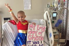 This Badass Girl Dressed As Wonder Woman On Her Last Day Of Chemo - http://allsuper.info/news/this-badass-girl-dressed-as-wonder-woman-on-her-last-day-of-chemo/