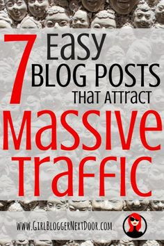 Instead of struggling to write that 10,000+ word blog post to get traffic... try one of these 7 easy blog posts! http://michelleshaeffer.com/7-easy-blog-posts-that-attract-massive-traffic/2016/08/01/