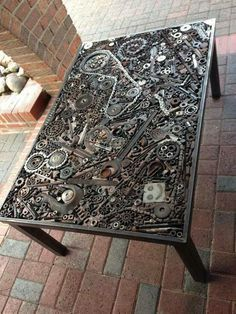 The Coolest DIY Coffee Tables Ideas DIY Projects is part of Steampunk furniture - The Coolest DIY Coffee Tables Ideas Car Part Furniture, Metal Furniture, Industrial Furniture, Cool Furniture, Business Furniture, Recycled Furniture, Outdoor Furniture, Funny Furniture, Furniture Websites