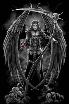 Anne Stokes ~ Dark Angel Version 2