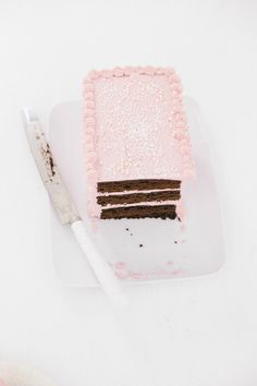 Rectangle Cake with Vanilla Buttercream