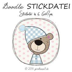 Stickdatei-DOODLE * SCHLAFMÜTZE * ab 10x10