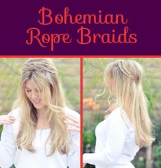 Bohemian Rope Braids | 26 DIY Hairstyles Fit For A Princess
