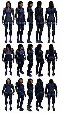 Mass Effect 3, Ashley Reference. by Troodon80.deviantart.com on @deviantART