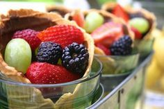 Fun & Healthy Snacks for Kids: Fruit Waffle Cones  #Fruit #Healthy #Snacks #Kids #Recipes  www.AZFoothills.com