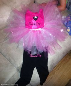 Personalized Children's Tshirt leggings by SweetCheeksEmbroider