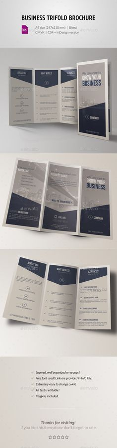 Corporate Business Trifold Brochure Template #brochure #trifold Download: http://graphicriver.net/item/corporate-business-trifold-brochure/11448644?ref=ksioks