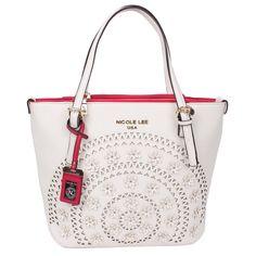 Nicole Lee Farley Flowery Shopper Tote Bag