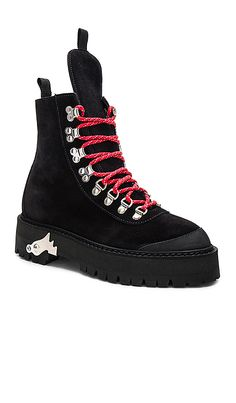cdce2d05b91 Shop for OFF-WHITE Hiking Mountain Boots in Black at REVOLVE.