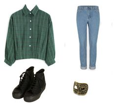 Flannel an mom jeans by stinkhead on Polyvore featuring polyvore, fashion, style, Topshop and clothing
