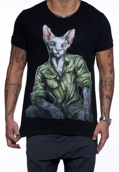 V-cat on black