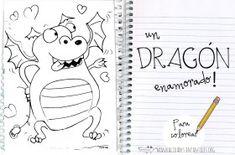 Dibujo de dragon enamorado
