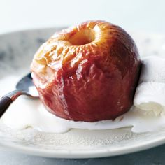 Feel free to add a sprinkle of cinnamon and some brown sugar along with the butter. Some apple varieties hold their shape better than others when cooked, but freshness is the most important factor. If you'd like, you can substitute heavy cream for the ice cream.
