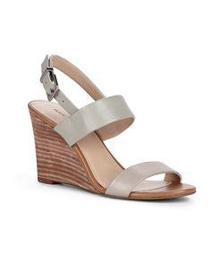 Loving this Abbey Stone Gwyneth Leather Wedge Sandal on #zulily! #zulilyfinds