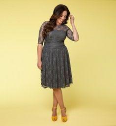 Luna Lace Dress @ www.kiyonna.com