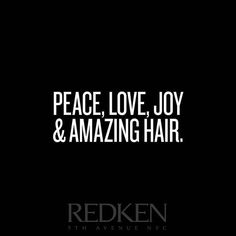 We are all about the Amazing hair   @Regrann from @redkensa -  #Peace #Love #Joy and #Amazing hair. Be #RedkenReady always.