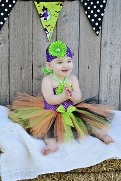 3PC Little Witch Costume 01.2.3.4.5t Halloween by RoseGardenBridal