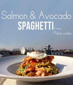 Looking for a simple healthy lunch idea? Whip up this yummy salmon and avocado spaghetti in just 20 minutes. Lots of love Pete cooks x
