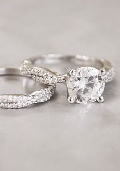 Twisted Vine Matched Ring Set