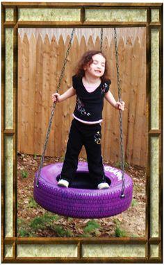 Plum Purple tire swing