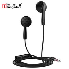 Langsdom IN2 Flat Head Earphone 3.5mm Earbuds Super Bass Headsets with microphone for iphone for xiaomi mi 6 for samsung phone #Affiliate