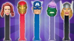 Avengers Assemble Finger Family Song ★ PEZ SuperHeroes Daddy Finger Rhym...