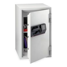 Sentry Safe Fire-Safe Commercial Safe - 3 ft by Sentry. $997.99. Sentry Safe Fire-Safe Commercial Safe - 3 ft Fire Safe is ideal for storing and protecting important documents and valuables in the office or at home. UL classified up to one hour. Programmable electronic lock has a secondary tubular keylock. Design includes five live-locking bolts, three dead bolts, multi-position shelf and a locking drawer for small valuables. Wheels allow easy movement. Fire safe holds stand...